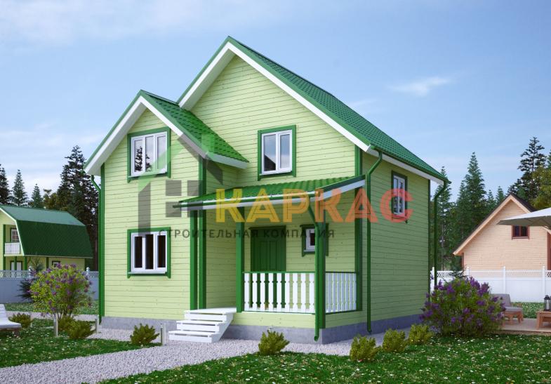 Каркасный дом 8,2х7,5 «Проект №10» 3