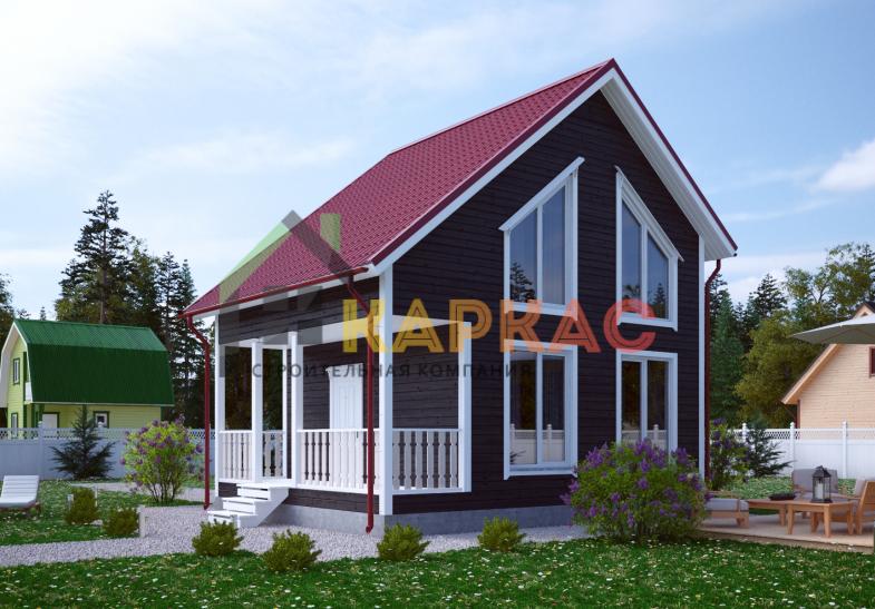 Каркасный дом 7,5х6 «Проект №11» 2