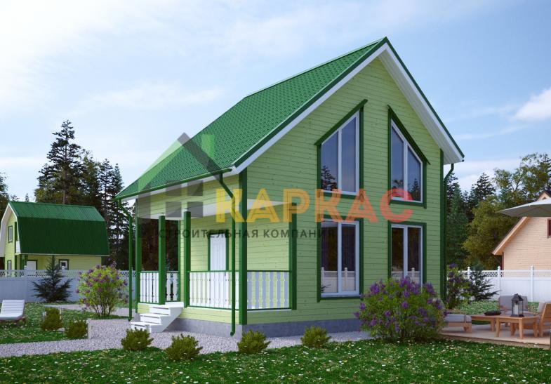 Каркасный дом 7,5х6 «Проект №11» 3
