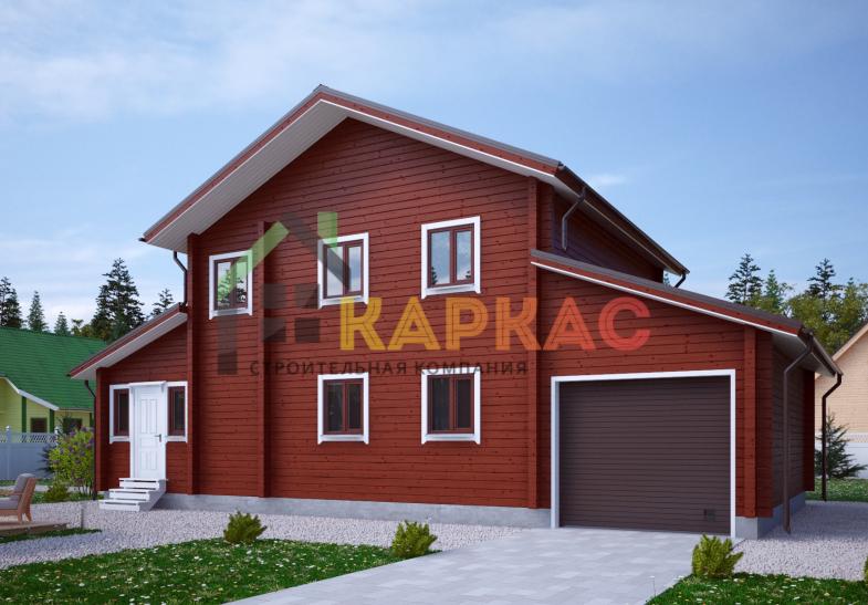 Каркасный дом 14,6х8 «Проект №12» 1