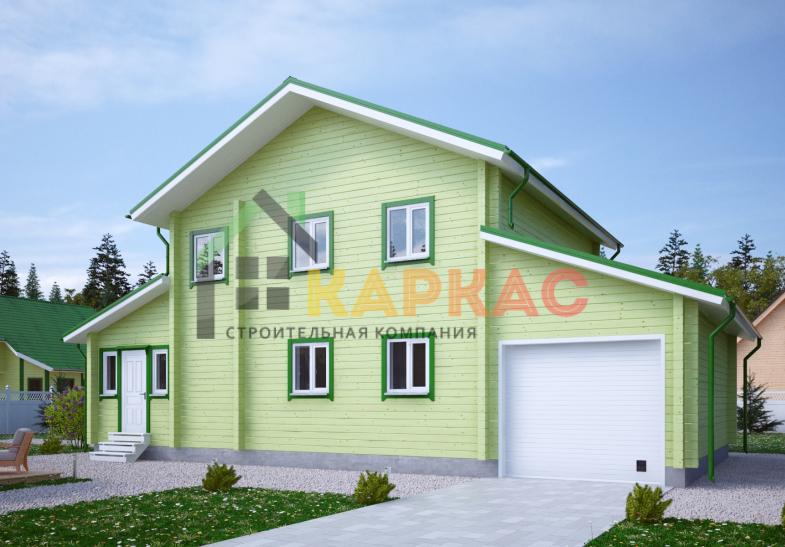 Каркасный дом 14,6х8 «Проект №12» 3
