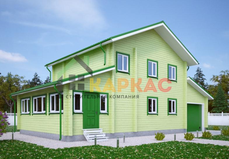 Каркасный дом 14,6х8 «Проект №12» 4