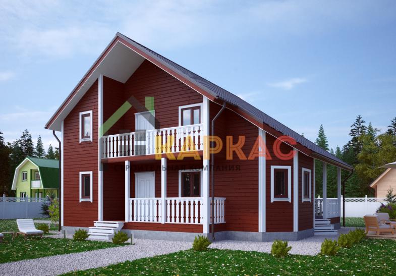 Каркасный дом 10,5х10,5 «Проект №13» 1