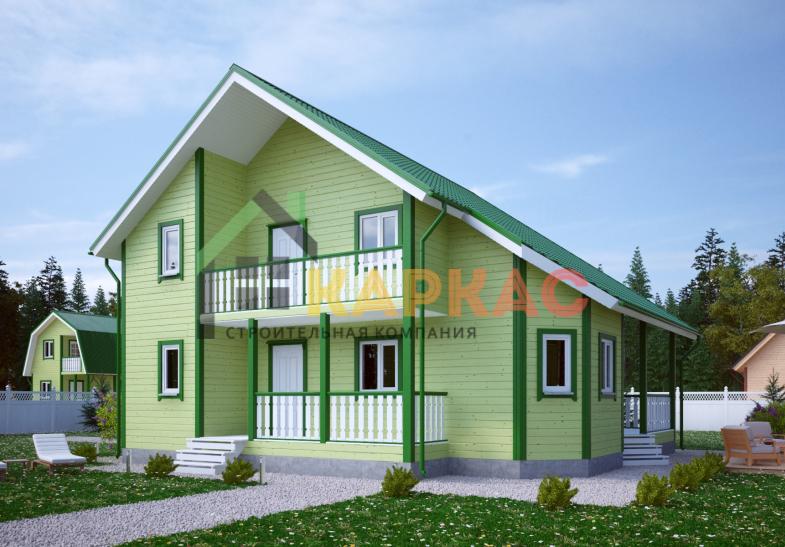 Каркасный дом 10,5х10,5 «Проект №13» 2