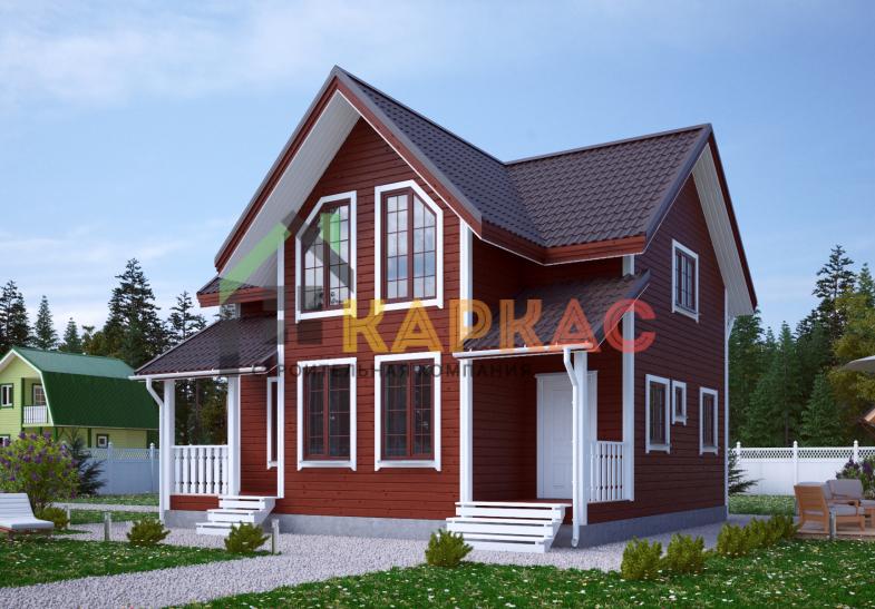 Каркасный дом 9х8 «Проект №14» 2