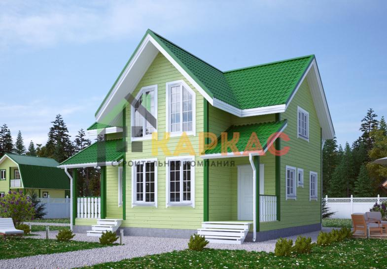 Каркасный дом 9х8 «Проект №14» 3