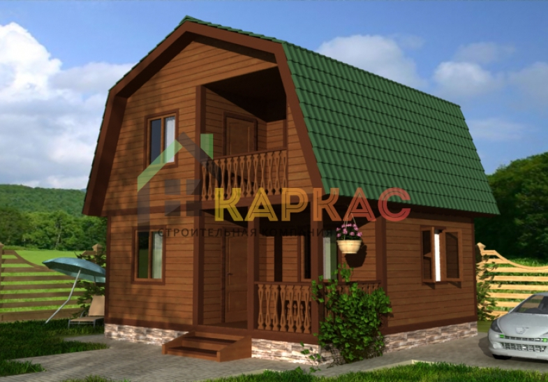 каркасный дом с балконом фото
