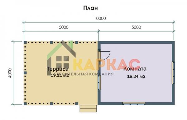 планировка дома с длинной террасой