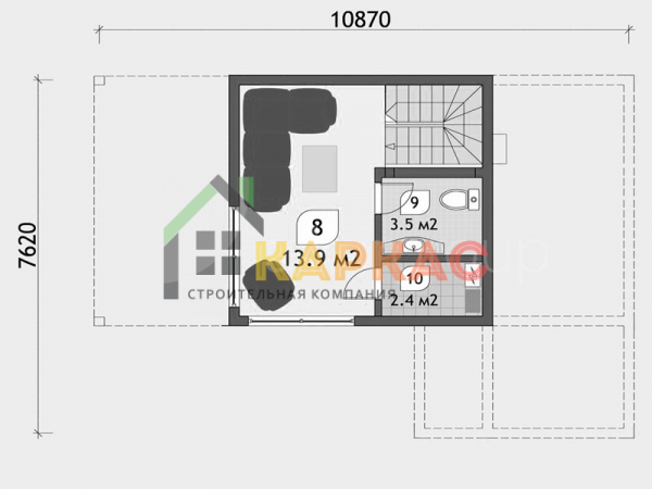 схематичная планировка 2го этажа