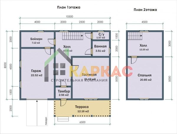 планировка каждого этажа внутри