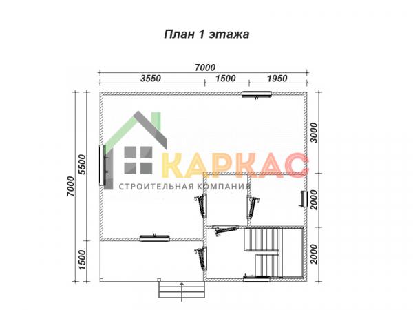 схематичная планировка 1го этажа
