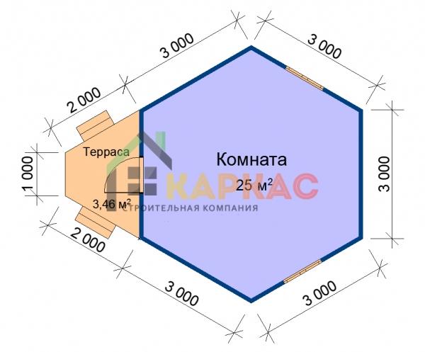 планировка домика 5х6