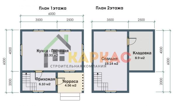 Планировка 1 и 2 этажей
