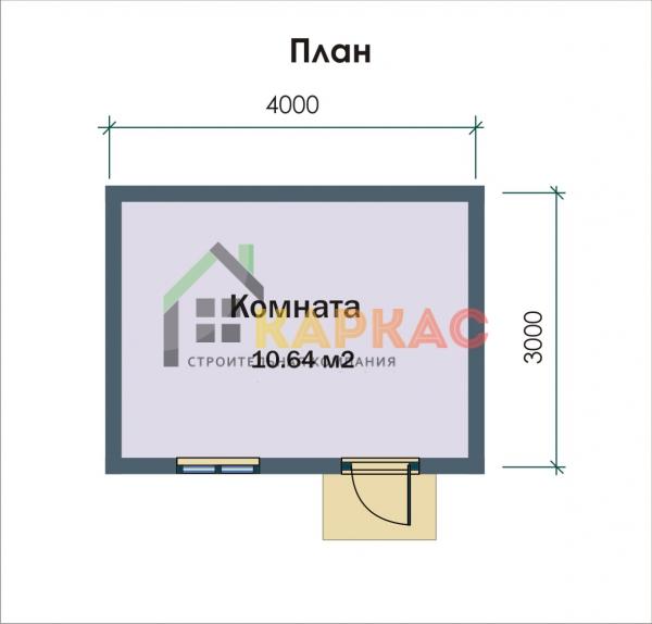 Планировка небольшого дома 4х3