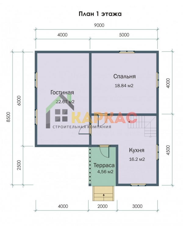 план каркасного дома с мансардой