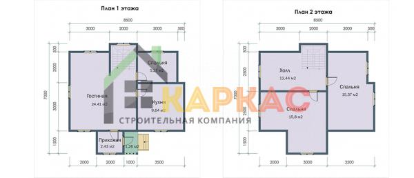 Планировка двух этажей