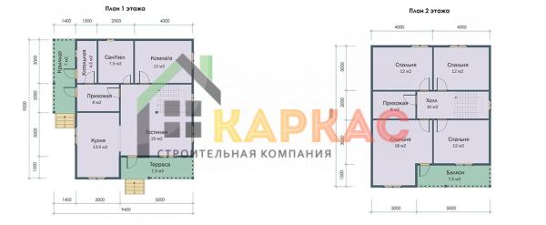 планировка 1 и 2 этажа