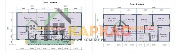 планировка 2 этажей