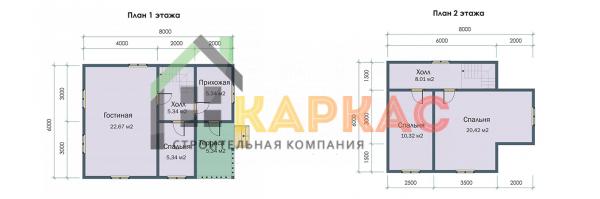 Планировка этажей в доме